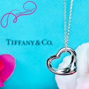NWOT Tiffany & Co. Elsa Peretti Open Heart Pendant